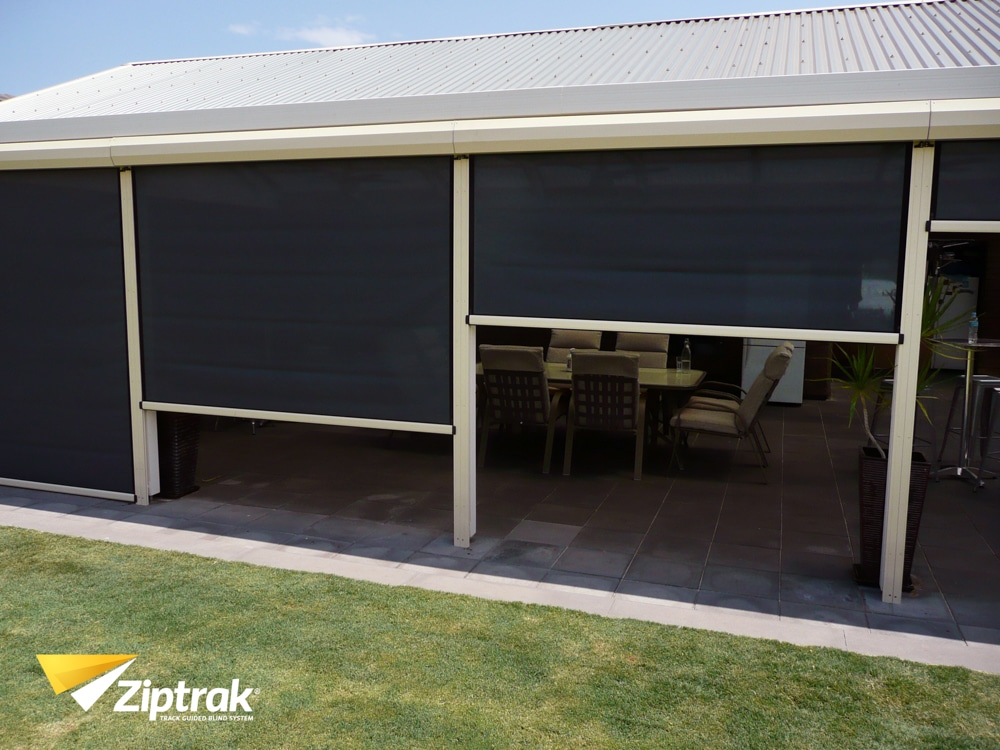 black-patio-blinds-adelaide-one-open-one-closed