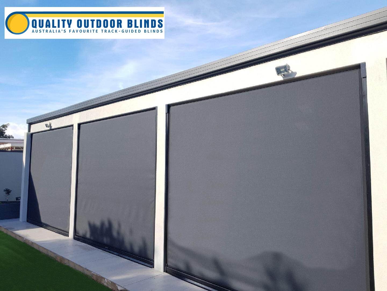 black-roller-blinds-adelaide-with-logo